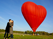 воздушный шар сердце