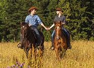 Прогулка на лошадях вдвоём