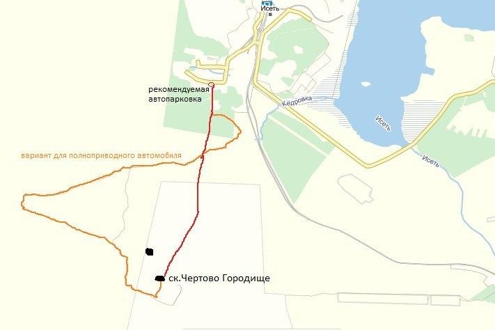 Схема проезда к скалам Чертово городище