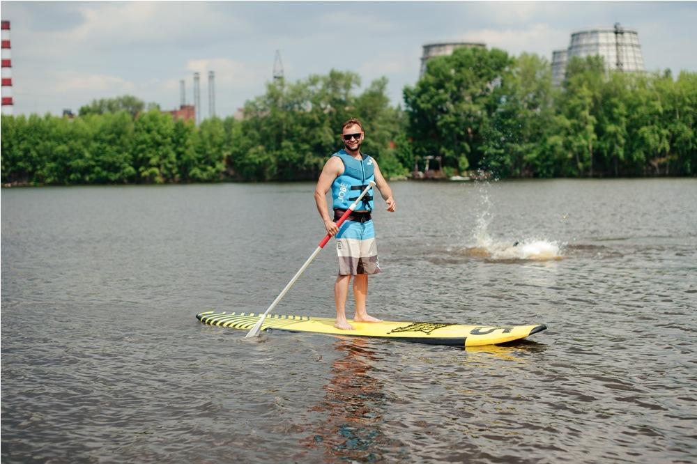 SUP-серфинг на водоеме