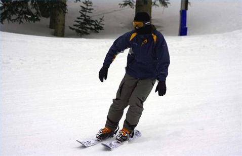 Катание на коротких горных лыжах