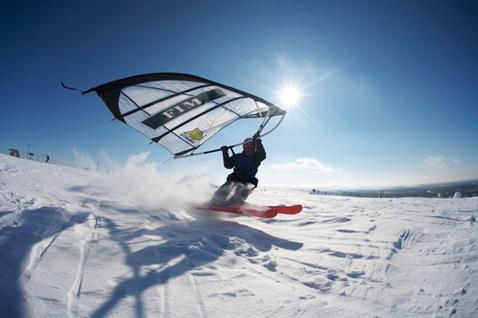 Полет на лыжах