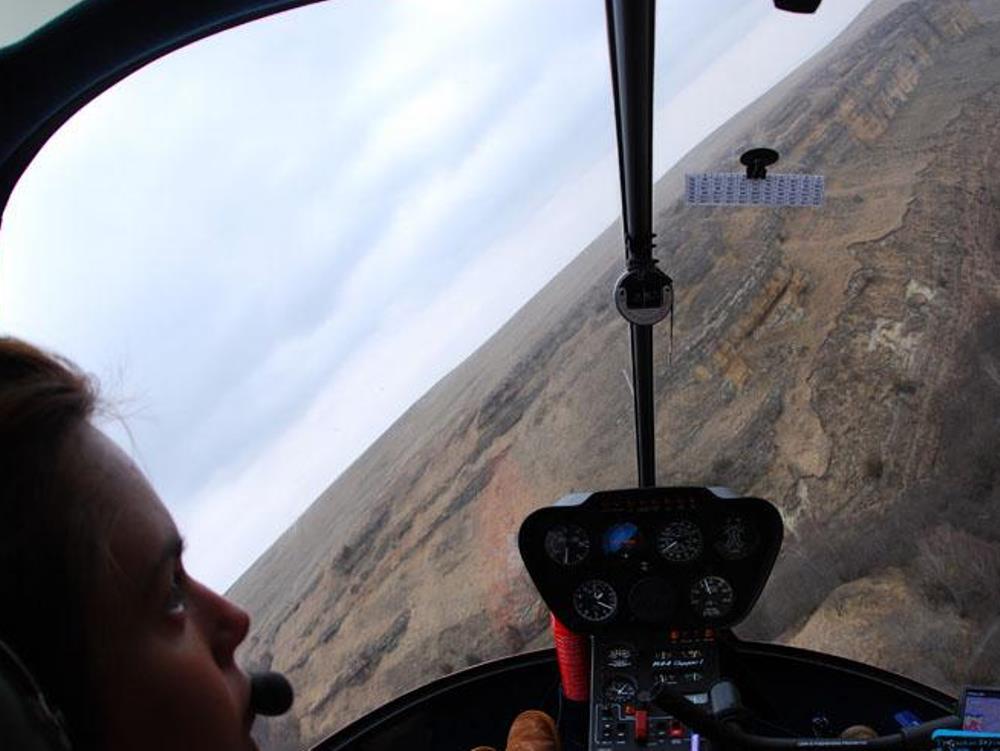Вид из кабины вертолета